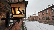 На территории бывшего нацистского концлагеря Аушвиц-Биркенау. Архивное фото