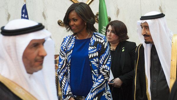 Первая леди США Мишель Обама в Саудовской Аравии