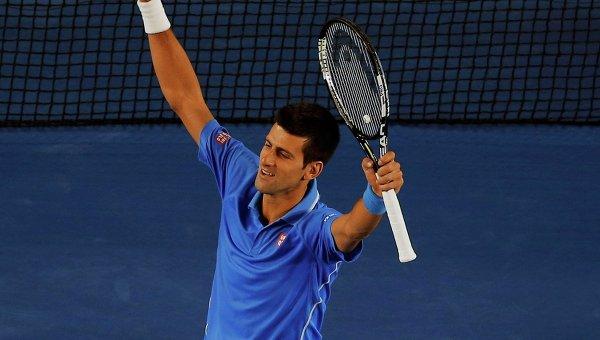 Новак Джокович празднует победу на Australian Open - 2015. 1 февраля 2015 года