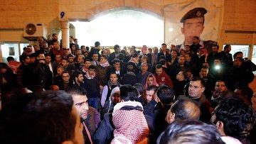 Протесты в связи с казнью пилота в Аммане, Иордания, 3 февраля 2015