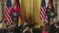 Обама и Меркель о дипломатическом и военном решениях конфликта на Украине