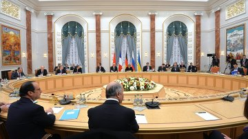 Переговоры лидеров России, Германии, Франции и Украины в Минскею. Архивное фото