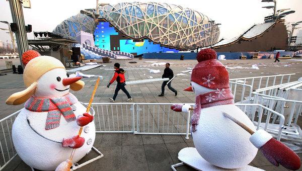 Национальный стадион Птичье гнездо в Пекине, Китай. Архивное фото