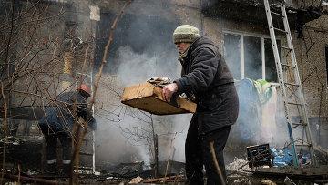 Последствия обстрела украинскими военными Донецка. Архивное фото