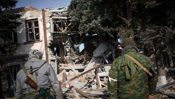 Ополченцы в Горловке в Донецкой области. Архивное фото