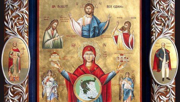 Икона Панайа Патриотисса (Божья матерь Патриотка), или Единство