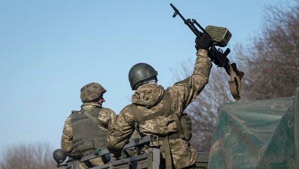 Вывод войск украинской армии из Дебальцево, Донецкая область, Украина