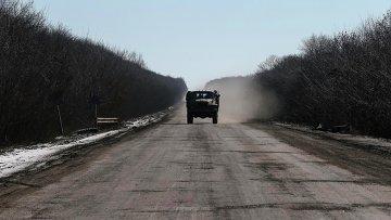 Вывод войск украинской армии из Дебальцево. Донецкая область, 18 февраля 2015
