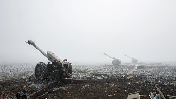 Артиллерийские орудия войск Донецкой народной республики