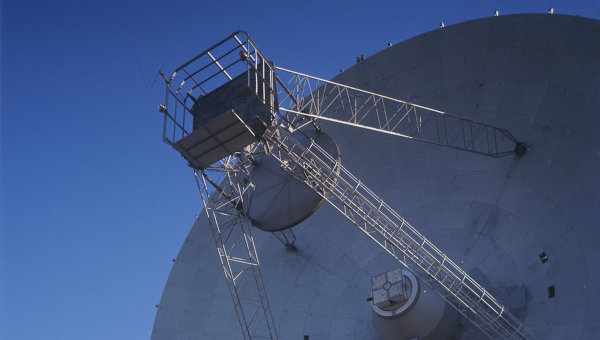 Радиотелескоп П-2500 (РТ-70) в Крыму. Архивное фото