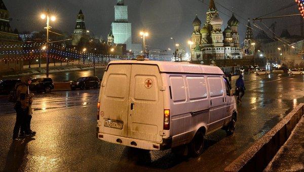 Фото с места убийства политика Бориса Немцова