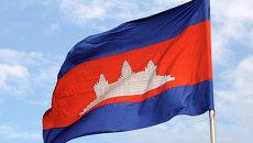 Флаг Камбоджи. Архивное фото