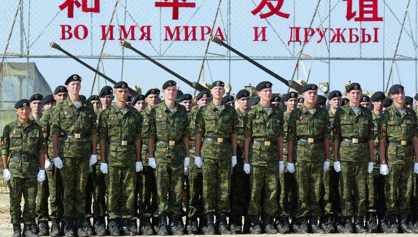 Российские военные на закрытии совместных российско-китайских учений