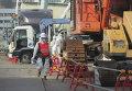"""Ликвидаторы около 4 блока АЭС """"Фукусима"""""""