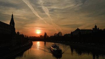 Потепление в Москве. Архивное фото