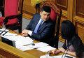 Председатель Верховной рады Украины Владимир Гройсман на заседании Верховной рады Украины