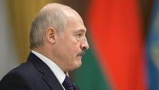 Президент Белоруссии Александр Лукашенко во время встречи с президентами России и Казахстана в резиденции Акорда в Астане