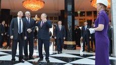 Рабочая поездка президента РФ В.Путина в Казахстан