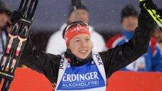 Немецкая биатлонистка Лаура Дальмайер. Архивное фото