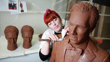 Актер Бенедикт Камбербэтч увековечен в шоколаде