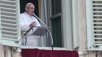 Папа римский Франциск обратился с проповедью к верующим