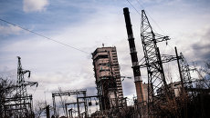 Закрытая угольная шахта около Луганска, Архивное фото