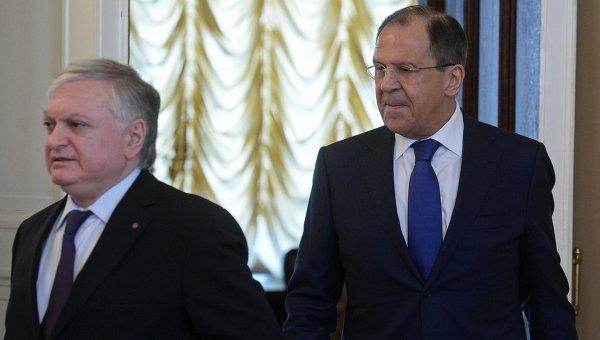 Встреча глав МИД РФ и Армении С.Лаврова с Э.Налбандяном
