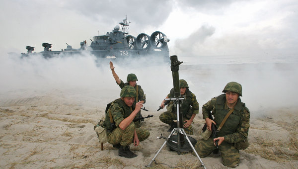 Корабли ВМФ РФ приступили к заключительной стадии учений Запад-2009
