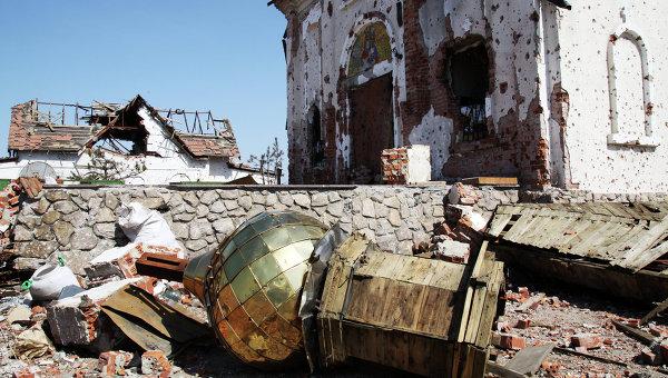 Храмы в Донецке, разрушенные в ходе боевых действий. Архивное фото