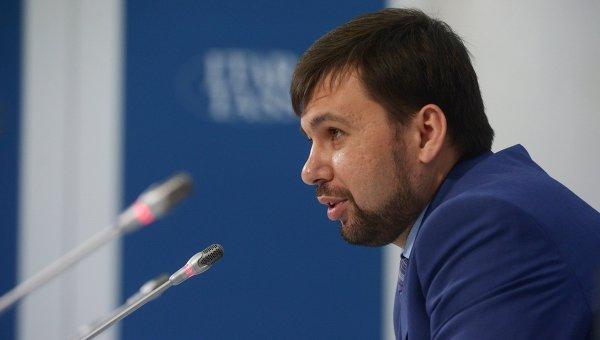 Председатель Верховного совета самопровозглашенной Донецкой народной республики Денис Пушилин. Архивное фото