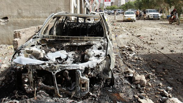 Последствия авиаударов ВВС по Йемену. Архивное фото