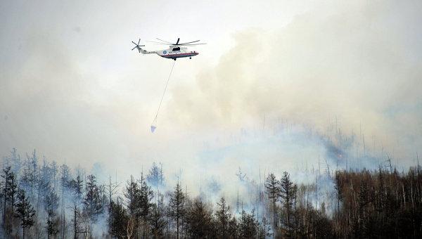 Лесные пожары в Забайкальском крае. Архивное фото