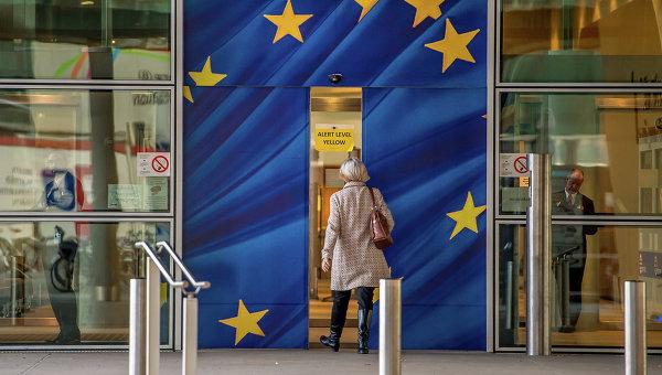 Вход в здание Еврокомиссии в Брюсселе. Архивное фото.
