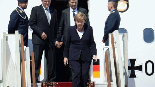 Прилет Федерального канцлера Федеративной Республики Германия А.Меркель в Москву