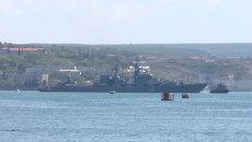 Крейсер Москва отправился в Средиземное море на учения с ВМС Китая