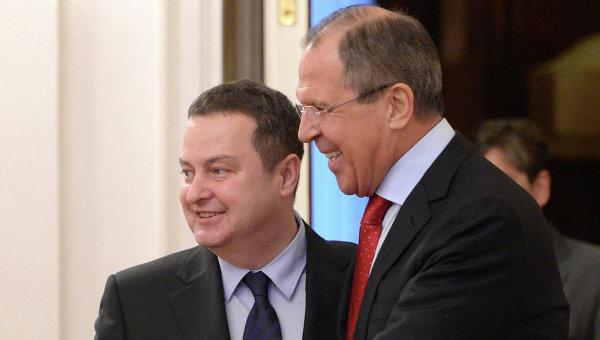 Встреча С.Лаврова с И.Дачичем. Архивное фото