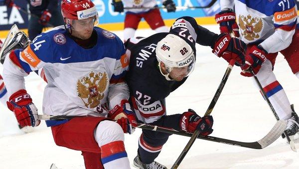 Хоккей. Чемпионат мира - 2015. Матч США - Россия