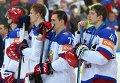 Игроки сборной России после окончания финального матча чемпионата мира по хоккею 2015
