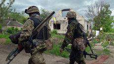 Украинские военнослужащие в Донбассе. Архивное фото