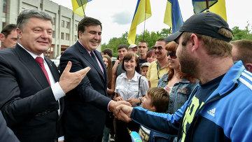 Президент Украины Петр Порошенко назначил Михаила Саакашвили главой Одесской области. Архивное фото