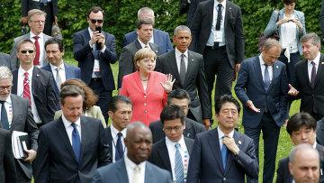 Лидеры стран участников саммита G7 в окрестностях замка Эльмау в Баварии. Архивное фото
