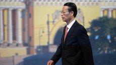 Первый заместитель премьера Государственного совета Китайской Народной республики Чжан Гаоли. Архивное фото