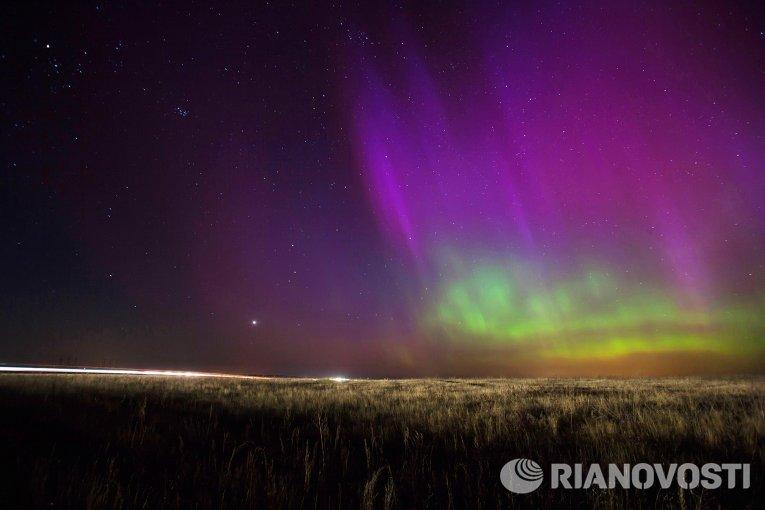 Северное сияние в Рязанской области