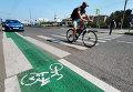 Выделенная полоса для велосипедистов. Архивное фото