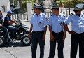 Полиция во время дежурства возле отеля Imperial Marhaba, Тунис