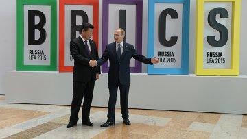 Президент Российской Федерации Владимир Путин  и Председатель Китайской Народной Республики Си Цзиньпин, архивное фото