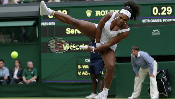 Американская теннисистка Серена Уильямс. Арихвное фото