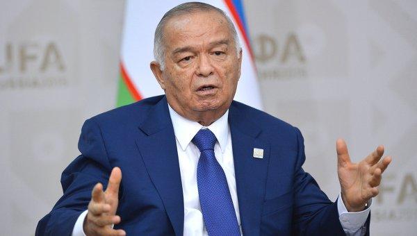 Президент Узбекистана Ислам Каримов на саммите ШОС