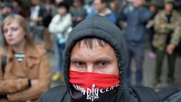 Активист Правого сектора, архивное фото
