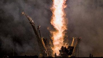 Старт ракеты Союз. Архивное фото